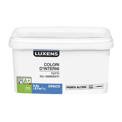 Idropittura lavabile Mano unica Grigio Grigio 1 - 2,5 L Luxens