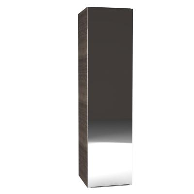 Colonna Remix 1 anta specchio L 45 x P 35 x H 180 cm tartufo
