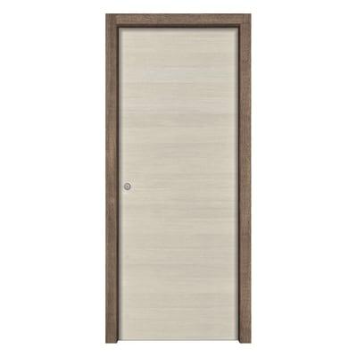 Porta da interno scorrevole Mixage brown grano 60 x H 210 cm reversibile