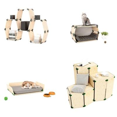 Connettore Playwood 105° per pannelli in legno in plastica hi-tech bianco confezione 4 pezzi