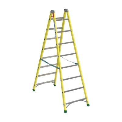 Scala doppia alluminio Facal 8 gradini, per lavori fino a 3,5 m