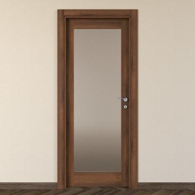 Porta da interno battente Vei noce 80 x H 210 cm sx