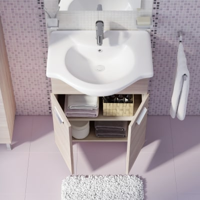 Mobile bagno Rimini larice L 65 cm