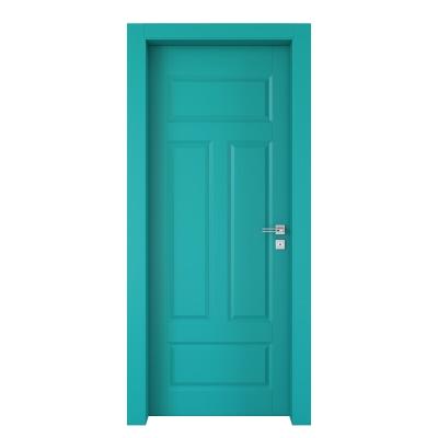 Porta da interno battente Coconut Groove azzurro 70 x H 210 cm sx