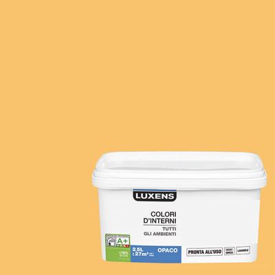Idropittura lavabile Mano unica Arancio Arancio 6 - 2,5 L Luxens