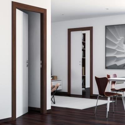 Porta da interno scorrevole One bianca/brown 90 x H 210 cm reversibile