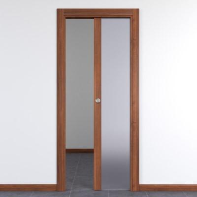 Porta da interno scorrevole Alnitak noce nazionale 70 x H 210 cm dx