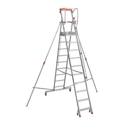 Scala castello alluminio Facal 10 gradini, per lavori fino a 4,51 m
