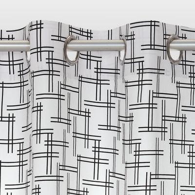 Tenda Sporty bianco e nero 140 x 280 cm