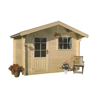 casetta in legno grezzo Askola plus 7,17 m², spessore 28 mm
