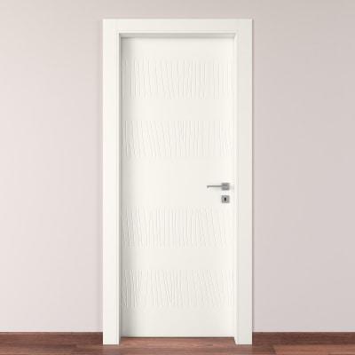 Porta da interno battente Fence bianco 80 x H 210 cm sx