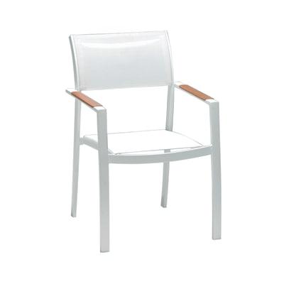 Sedia impilabile Torres bianco