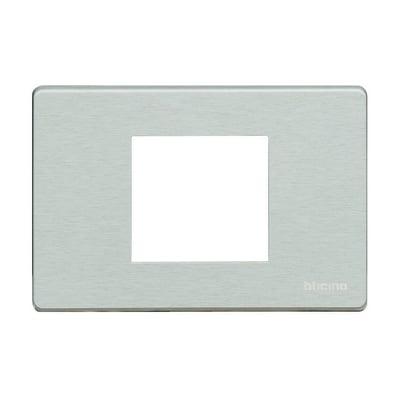Placca 2 moduli BTicino Magic alluminio