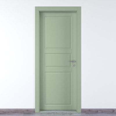 Porta da interno battente New York verde 70 x H 210 cm sx