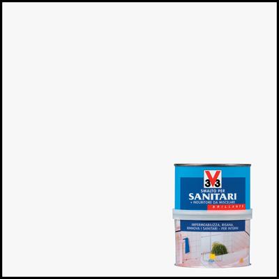 Smalto Sanitari V33 bianco brillante 0,5 L
