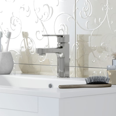 Mobile bagno Barocco bianco L 85 cm