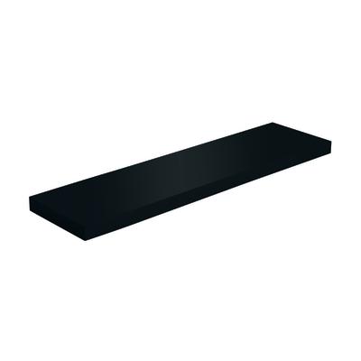 Mensola Spaceo nero L 80 x P 23, sp 3,8 cm