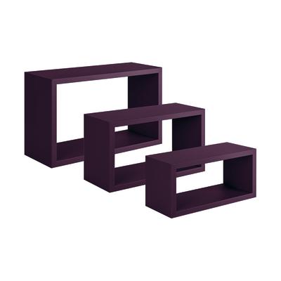 Set 3 rettangoli Spaceo viola, sp 1,8 cm