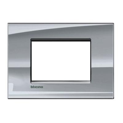 Placca 3 moduli BTicino Livinglight nichel