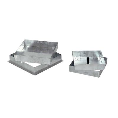 Sigillo zincato 330 x 330 x 50 mm