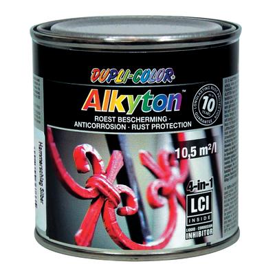 Smalto per ferro antiruggine Alkyton grigio argento martellato 0,25 L