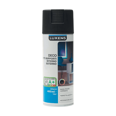 Smalto spray Deco Luxens Nero Nero opaco 400 ml