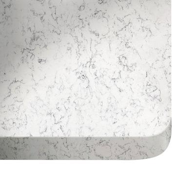 Alzatina su misura Lyra quarzo grigio H 6 cm