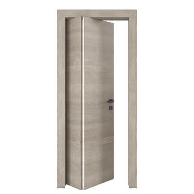 Porta da interno pieghevole asimmetrica Chasing rovere chiaro 80 x H 210 cm sx