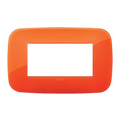 Placca 4 moduli Vimar Arké orange reflex