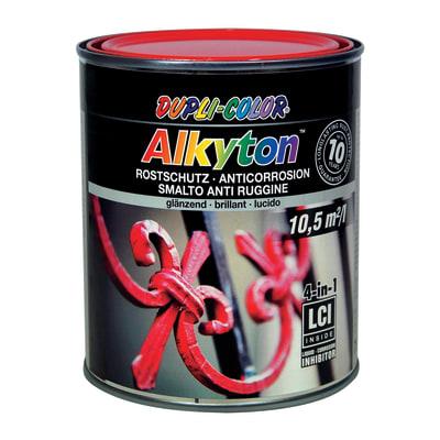 Smalto per ferro antiruggine Alkyton rosso RAL 3020 brillante 0,75 L