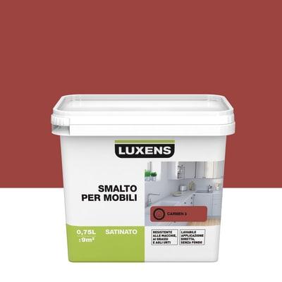 Smalto Per mobili Luxens Rosso Carmen 3 satinato 0,75 L