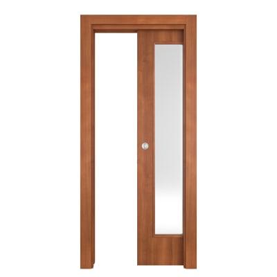 Porta da interno scorrevole Diamond noce biondo 80 x H 210 cm reversibile