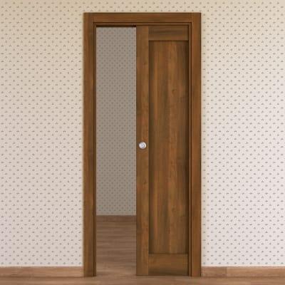Porta da interno scorrevole Sargas noce 70 x H 210 cm reversibile