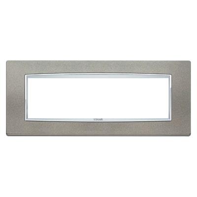 Placca 7 moduli Vimar Eikon Classic titanio matt