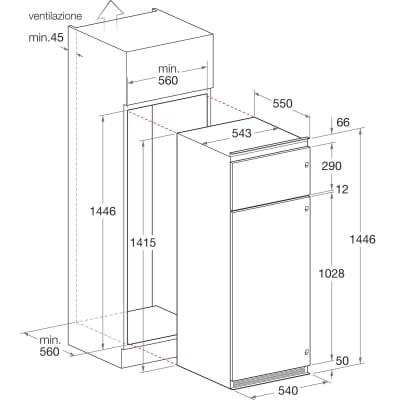 Frigorifero da incasso doppia porta Hotpoint BD 2422/HA dx