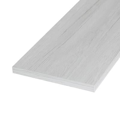 Pannello melaminico rovere bianco 18 x 300 x 600 mm