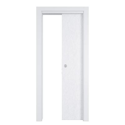 Porta da interno scorrevole Hunk cemento calce 80 x H 210 cm reversibile