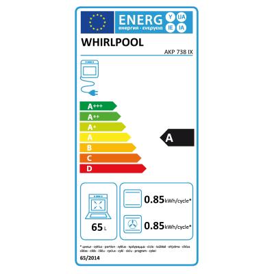 Forno elettrico multifunzione ventilato 7 funzioni Whirlpool AKP9 738IX