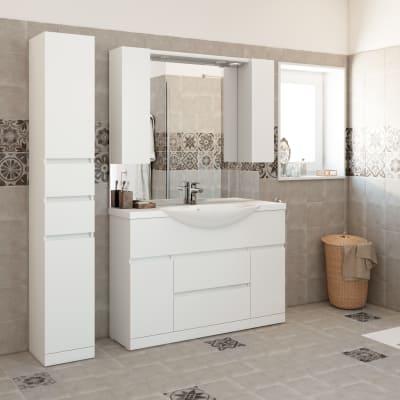 Mobile bagno elise bianco l 120 cm prezzi e offerte online for Arredo bagno leroy merlin