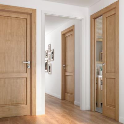 Porta da interno scorrevole Bernini rovere miele 60 x H 210 cm dx
