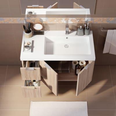 Mobile bagno Linea rovere ecrù L 95 cm