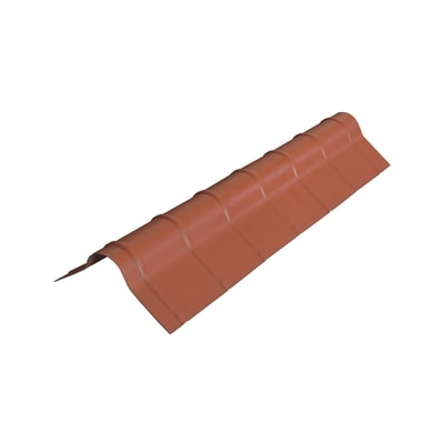 Colmo polivalente terracotta in polimglass 41 x 16  cm, spessore 1,8 mm