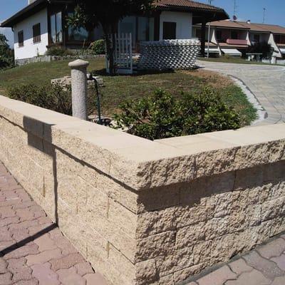 Muretto Antico giallo lessinia, bancale da 1.38 mq in cemento