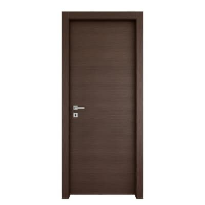 Porta da interno battente Timber Fumo 80 x H 210 cm reversibile