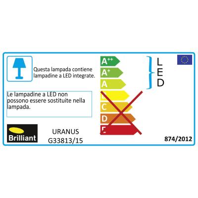 Barra a 2 luci Uranus cromo LED integrato