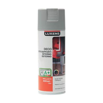 Smalto spray Deco Luxens Grigio Sasso 3 brillante 400 ml