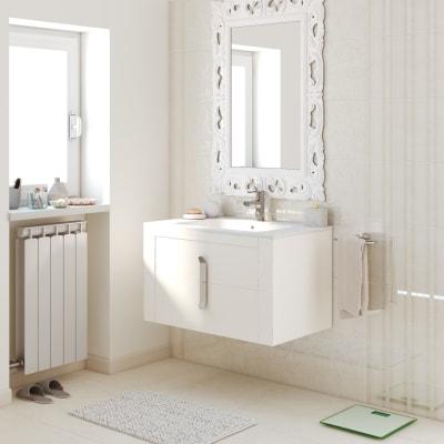 Mobile bagno Barocco bianco vintage L 85 cm