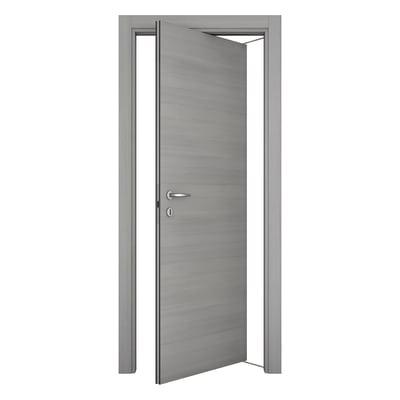 Porta da interno rototraslante Resort larice ghiaccio 70 x H 210 cm sx