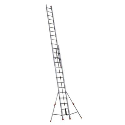 Scala con fune alluminio Facal 2x14 gradini, per lavori fino a 8,6 m