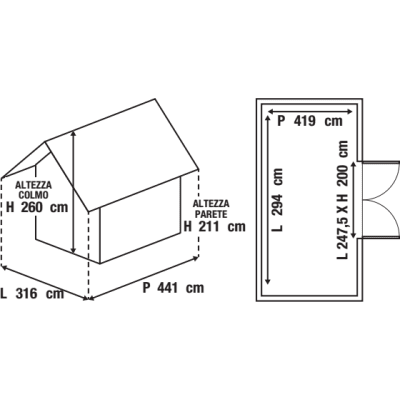 Garage in metallo Orlando, 13,9 m²